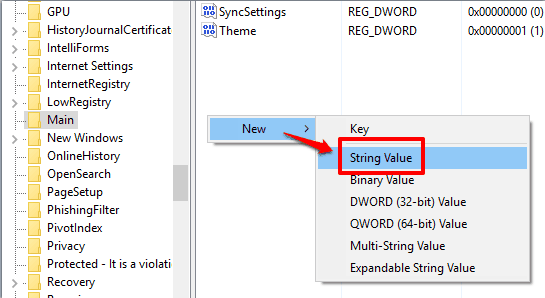 create a new String Value