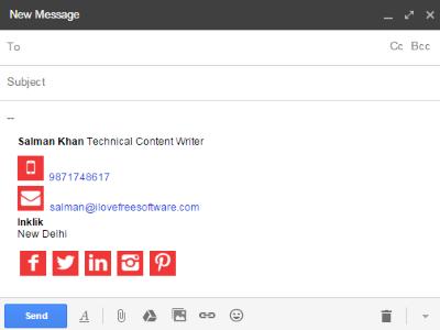create email signature