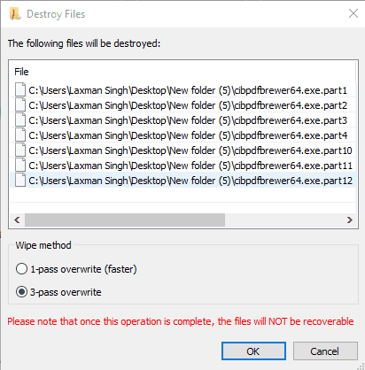 delete files securely