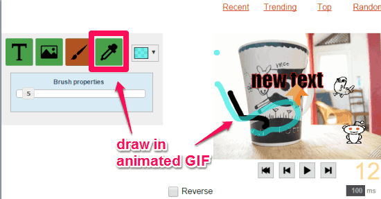 draw in animated GIF