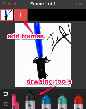 drawing on frames