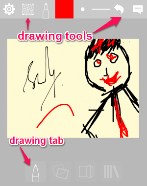drawing tab