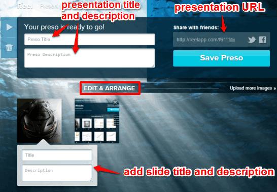 edit and arrange slides