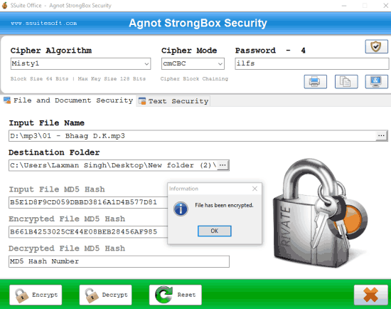 free file encryption software with 19 different encryption algorithms