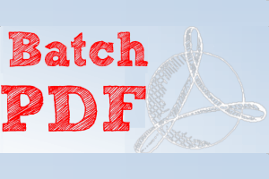 free software to batch Watermark PDF documents