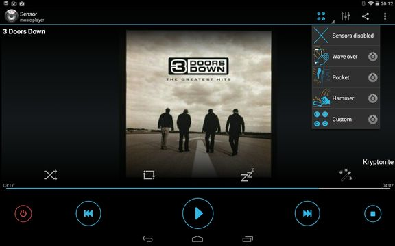 gesture music player apps android 3
