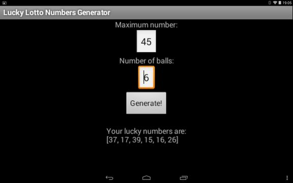 lottery number generator apps android 2