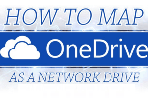 map OneDrive as network drive in Windows 10