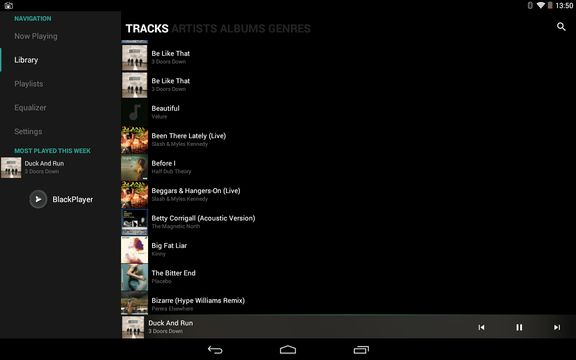 minimalistic music player apps android 2