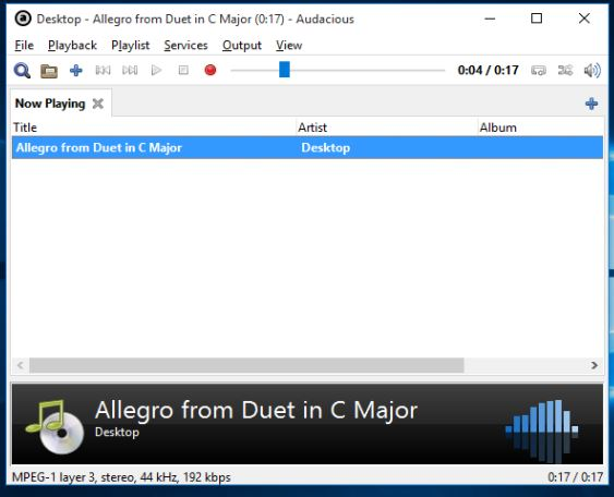 minimalistic music player software windows 10 3