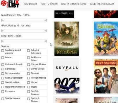 netflix search engines flixlist1