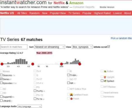 netflix search engines instantwatcher
