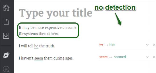 no grammar mistake detected by Grammarly