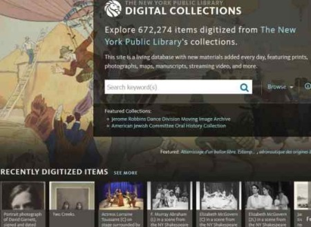 nypl digital collection home