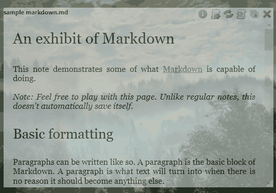open and read a text or markdown file