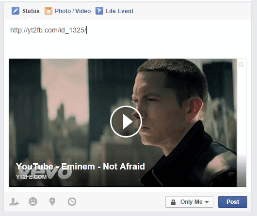 paste the new link as a Facebook post
