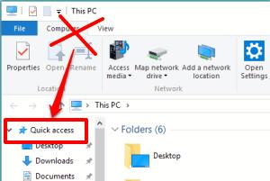 remove Quick Access from Windows 10 File Explorer