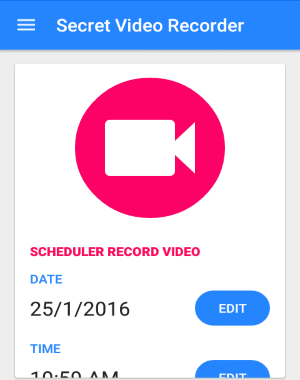 schedule video recording on android