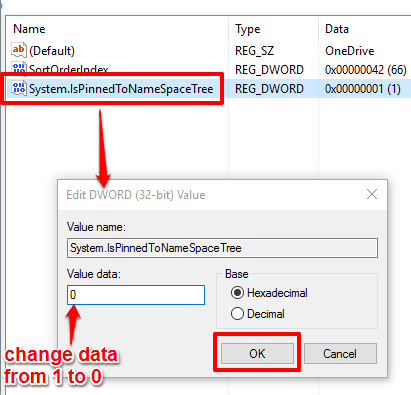 set value data to 0 and save