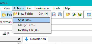 split or merge files