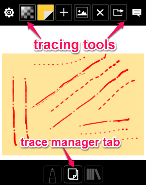 trace manager tab
