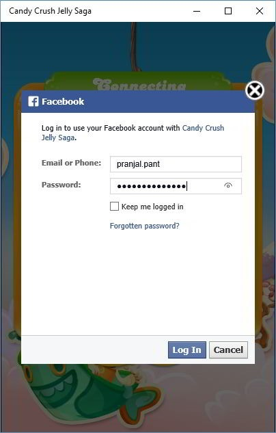 Candy Crush jelly saga facebook connect