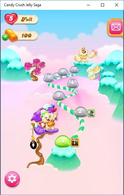 Candy Crush jelly saga level selection