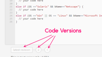 Code Snippet Versions in CodePad