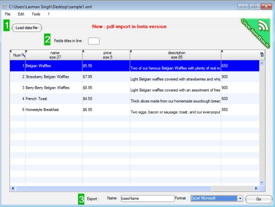File2data