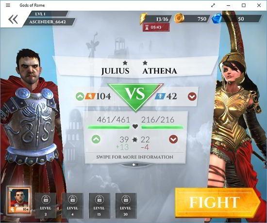 Gods of Rome battle commence