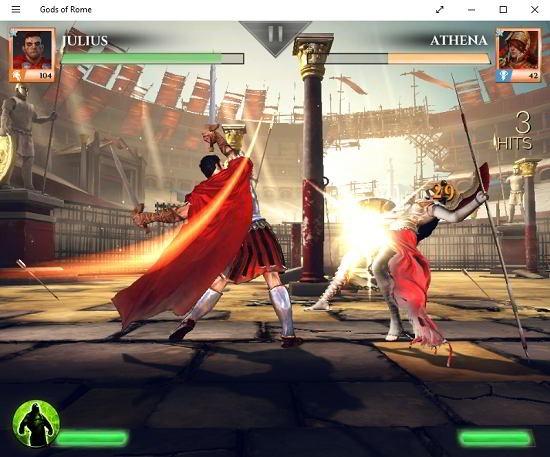 Gods of Rome battle gameplay