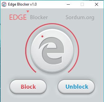 Microsoft Edge blocked