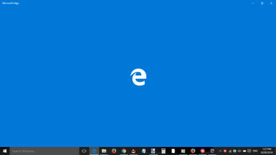 Microsoft Edge window will appear for a second only