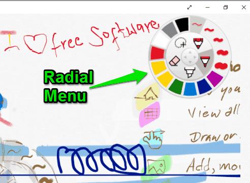 Radial menu