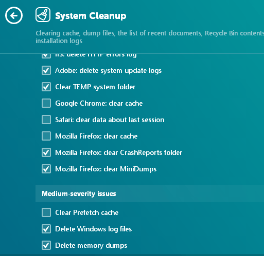 SYSTEM CLEANUP