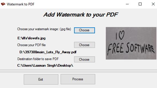 WatermarkToPDF- interface
