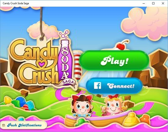 candy crush soda saga main menu