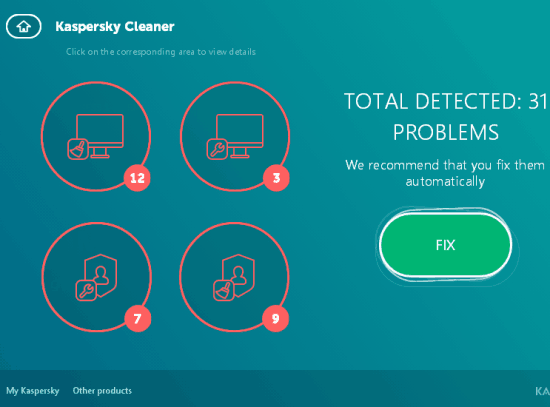 clean detected problems
