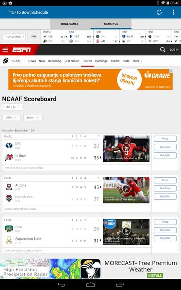 college football results apps android 3