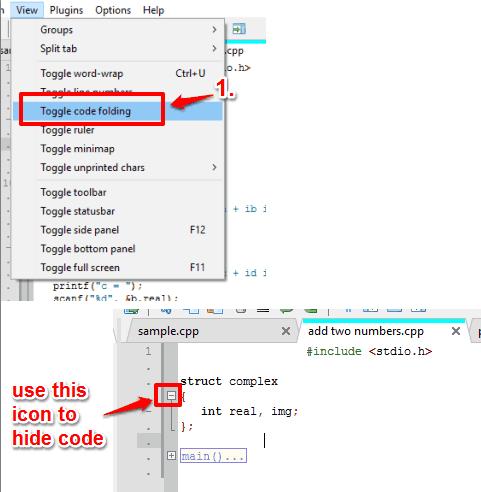 enable code folding