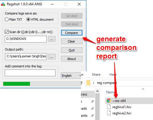 generate comparison report