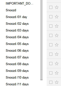 snooze emails