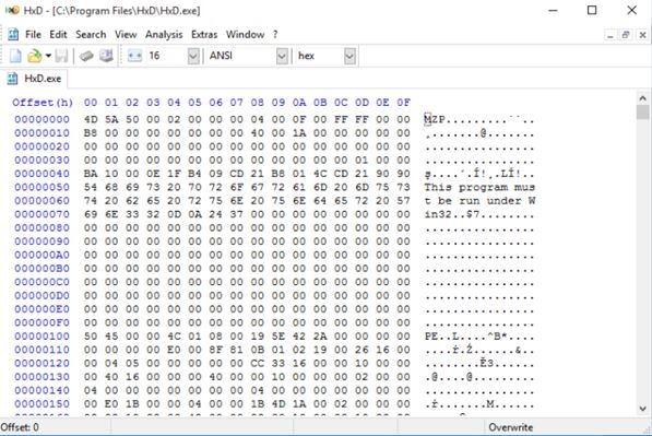 hex editor software windows 10 1