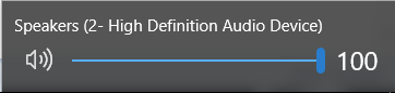Windows 10 volume control