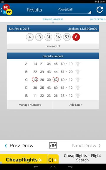 lottery result checker apps android 2