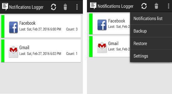 notification logger