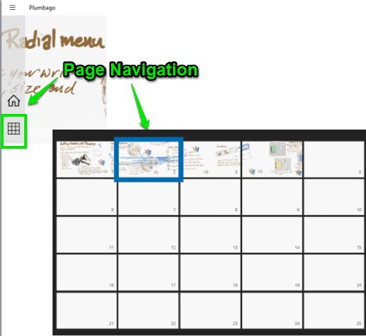 page navigation tool