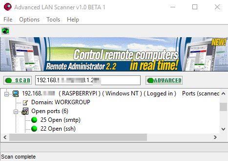 port scanner software windows 10 5
