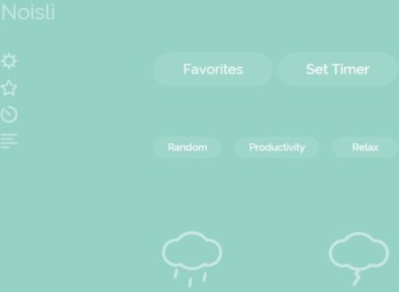 relaxing sounds chrome noisli