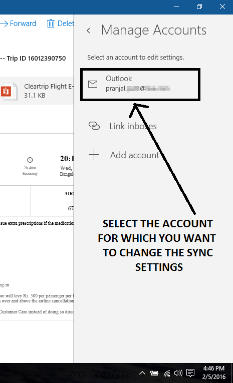 select account mail